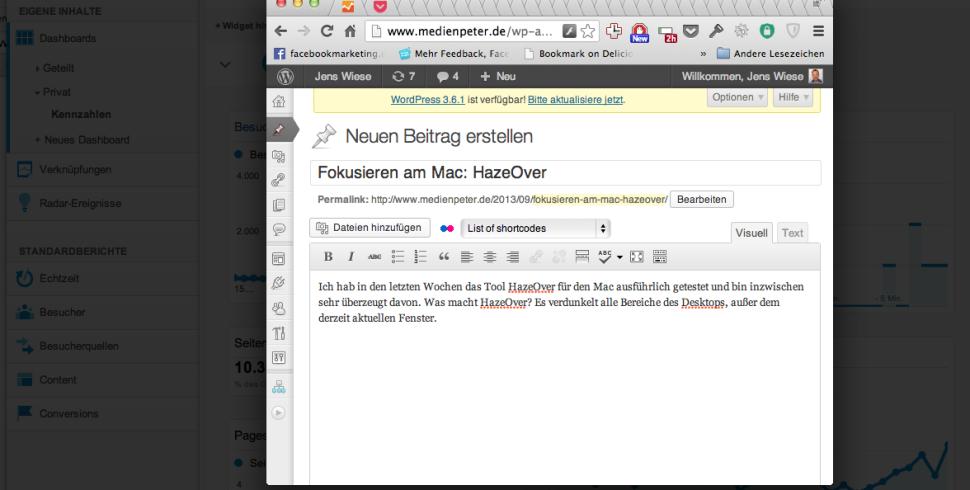 Fokusieren am Mac: HazeOver